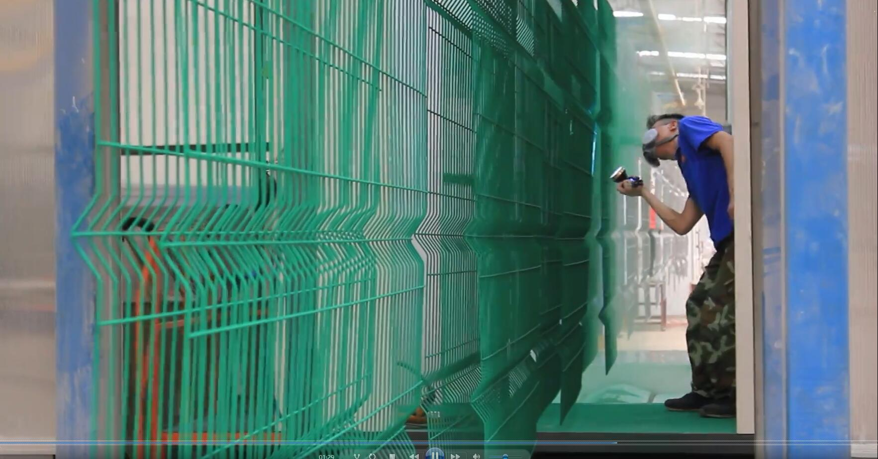 AEOMESH Welded Mesh Fence Panels Spraying Process